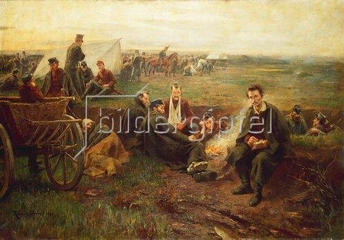 Imre Révész: Der ungarische Dichter Sandor Petöfi im Lager. 1896