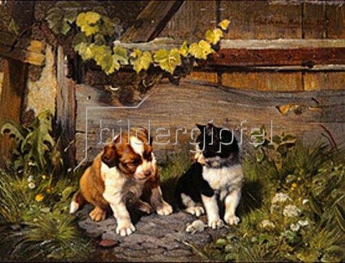 Julius Adam: Gute Spielkameraden. 1882(?)