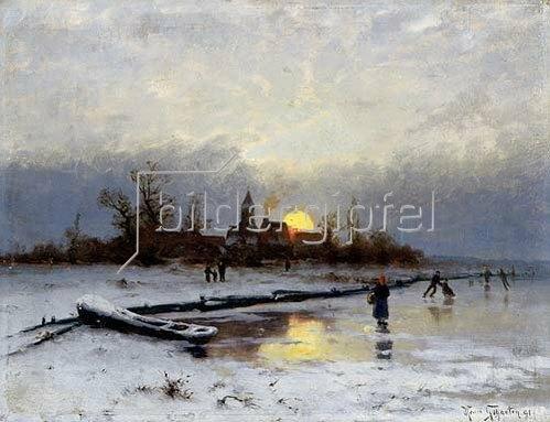 Heinrich Gogarten: Winterlicher Sonnenuntergang. 1891.