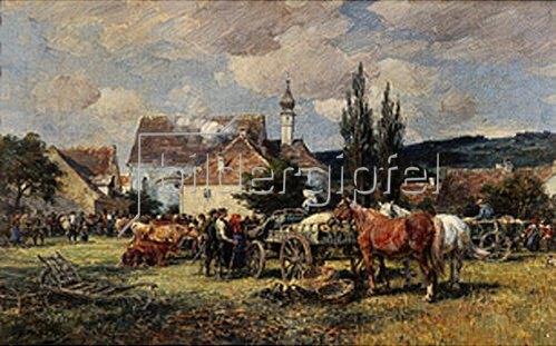 Karl Stuhlmüller: Viehmarkt im Dachauer Land.