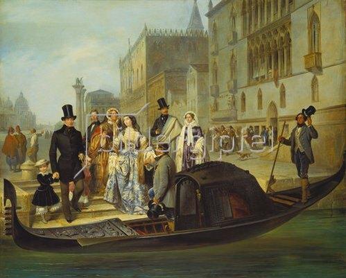 Giulio Carlini: Die Familie Tolstoi in Venedig. 1855.