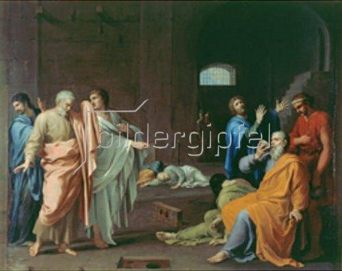 Charles Alphonse Dufresnoy: Der Tod des Sokrates.
