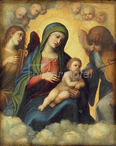 Correggio (Antonio Allegri): Madonna und Kind in der Glorie.