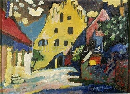 Wassily Kandinsky: Murnau - Schlosshof I. 1908.