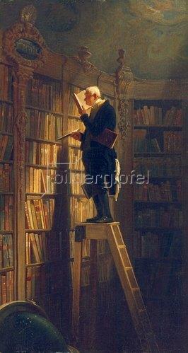 Carl Spitzweg: Der Bücherwurm. Um 1850
