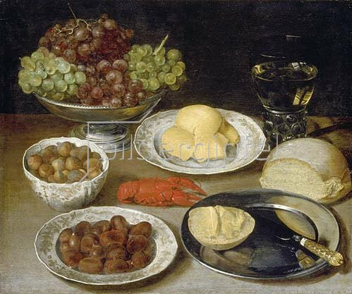 Georg Flegel: Stillleben mit Brot. Um 1610/20