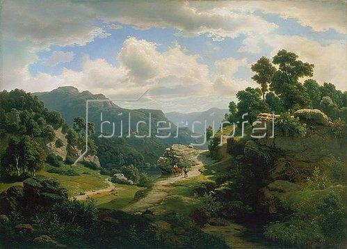 Leonhard Rausch: Romantische Waldlandschaft.