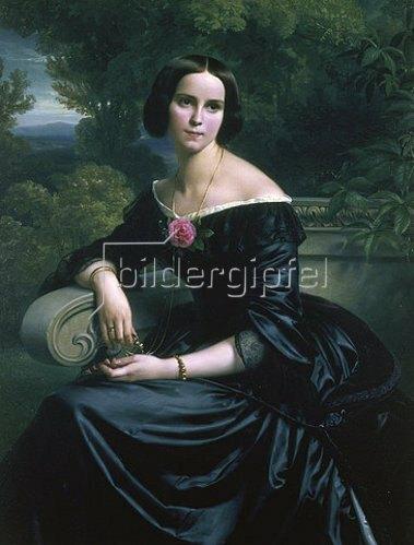 Carl Ferdinand Sohn: Bildnis der Sophie Eugenie Freifrau von Mumm, geborene Lutteroth. 1844.