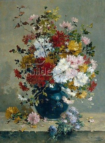 Eugene Henri Cauchois: Blumenbouquet.