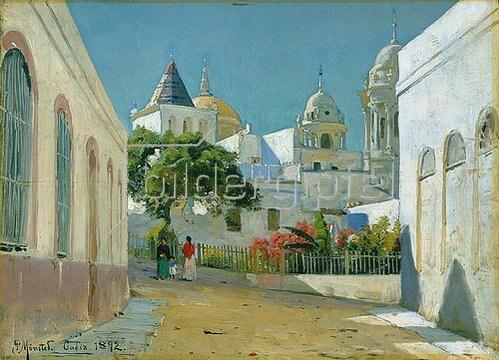 Peder Moensted: Stadtansicht in Cadiz/Spanien. 1892.
