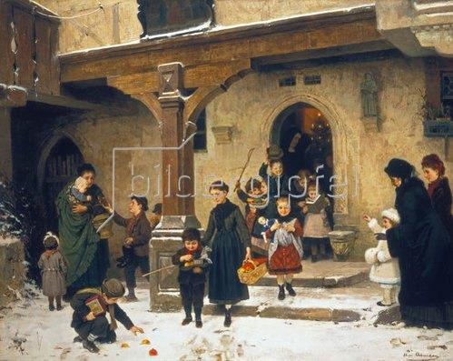 Hugo Oehmichen: Nach dem weihnachtlichen Kirchgang.