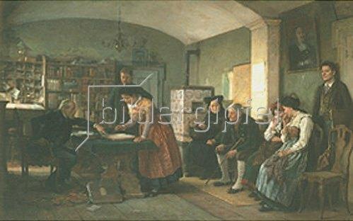 Benjamin Vautier: Auf dem Standesamt. 1880.