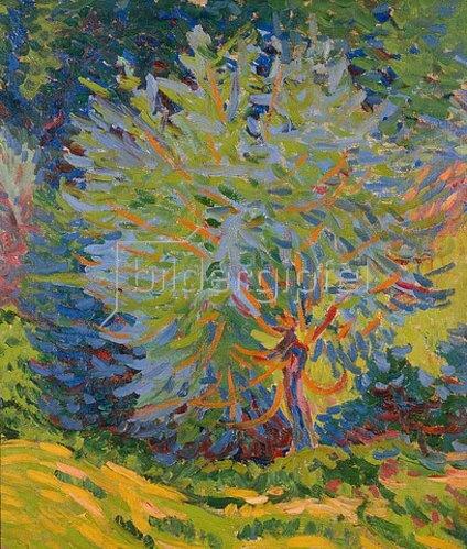 Ernst Ludwig Kirchner: Landschaft mit Baum. 1906/07