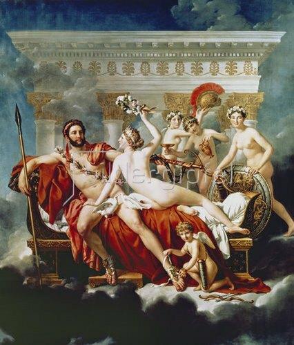 Jacques Louis David: Mars wird von Venus und den Grazien entwaffnet