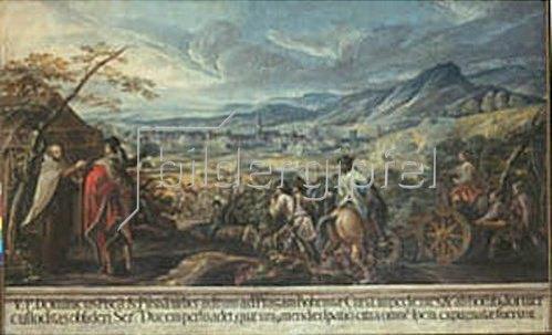 Deutsch: Der Pater beredet den Herzog zum Vorgehen gegen Pisca und Pilsen.
