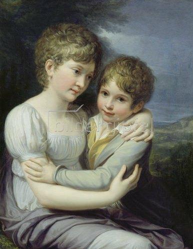 Andrea Appiani: Die Kinder des Malers, Carlotta und Raffaello.
