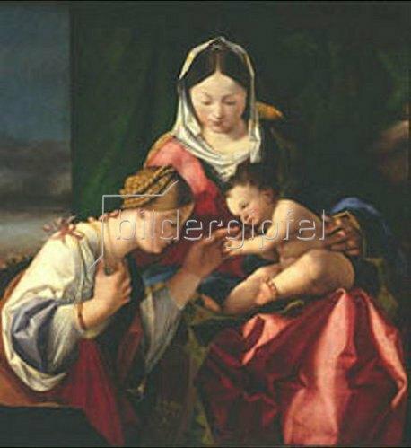 Lorenzo Lotto: Die mystische Vermählung der heiligen Katharina. Ausschnitt: Die Hl.Katharina.