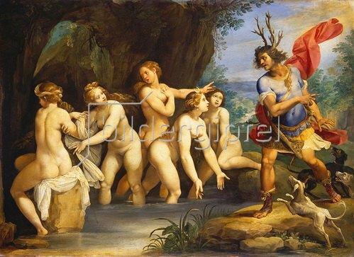 Giuseppe (Cavalliere) Cesari: Diana verwandelt Aktäon in einen Hirsch