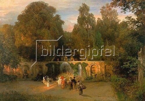 Oswald Achenbach: Im Park der Villa Torlonia. 1882.