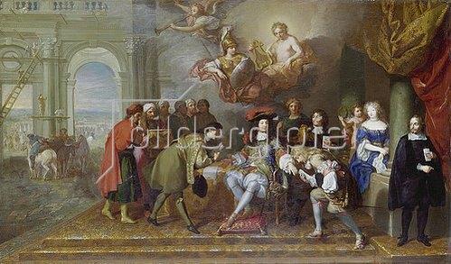Charles Nachfolger Le Brun: Louis XIV. empfängt einen Gesandten.
