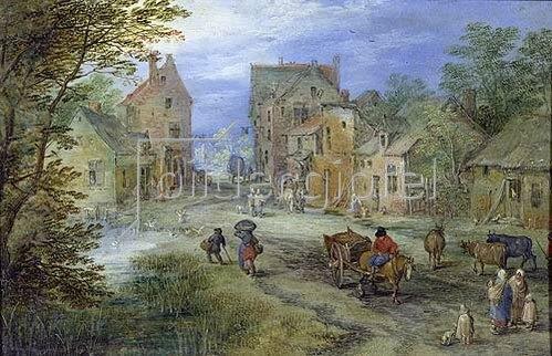 Jan Brueghel d.Ä.: Dorfstrasse. 1610.