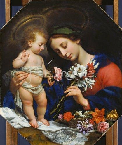 Carlo Dolci: Maria mit dem Jesuskind. 1649