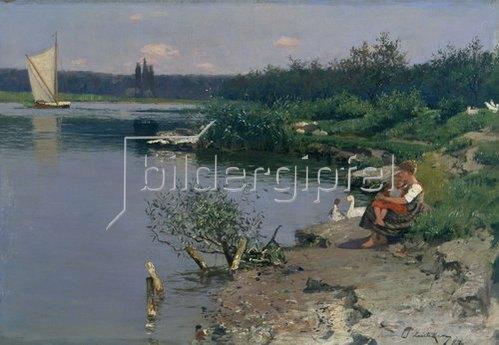 Walter Leistikow: Flussufer. 1887.