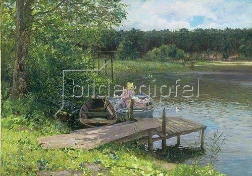 Richard Eschke: Sommertag im Grunewald. 1896.