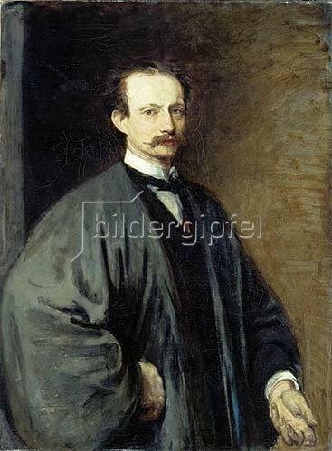 Hans von Marées: Selbstbildnis im japanischen Mantel. 1872.