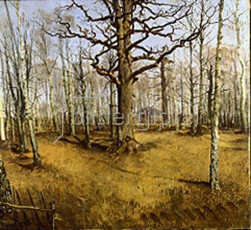 Ferdinand von Rayski: Wermsdorfer Wald. Um 1859.