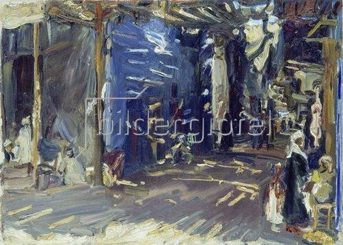 Max Slevogt: Bazarstrasse in Assuan. 1914.