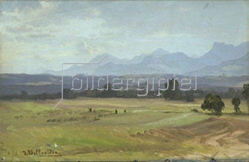 Josef Willroider: Vorgebirgslandschaft.    1866