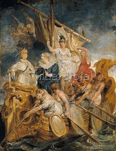 Peter Paul Rubens: Aus dem Medici-Zyklus: Die Übergabe der Regentschaft an den Dauphin (Volljährigkeit Ludwig XIII)