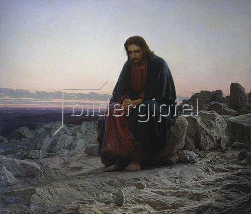 Iwan Kramskoi: Christus in der Wüste. 1872.