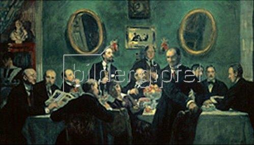 Boris Michailowitsch Kustodiev: Die Maler der Künstlergruppe Kunstwelt 1920.