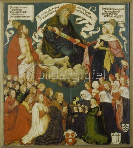 Hans Holbein d.Ä.: Votivbild des Ulrich Schwarz und seiner Familie. 1508