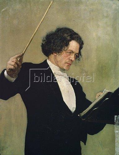 Ilja Efimowitsch Repin: Bildnis von Arthur G. Rubinstein. 1881.