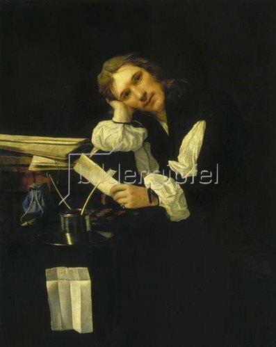 Michael Sweerts: Bildnis eines verträumten jungen Mannes. Um 1656.