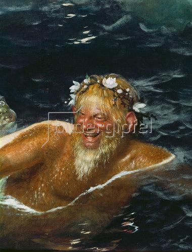Arnold Böcklin: Im Spiel der Wellen. Detail: Meeresungeheuer