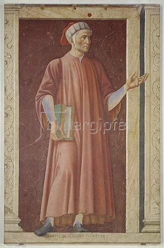 Andrea dal Castagno: Bildnis von Dante Alighieri.