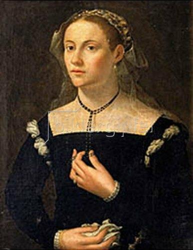 Französisch: Bildnis einer Dame in eleganter Kleidung (15. Jahrhundert).