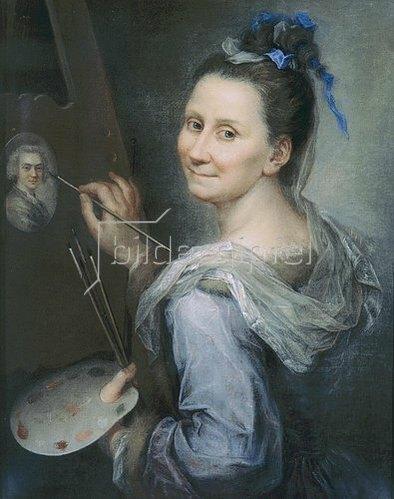 Giovanna Fratellini: Selbstbildnis. 1700/31
