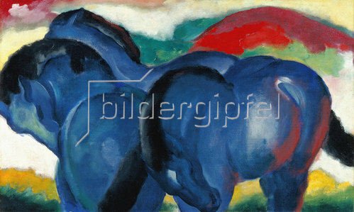 Franz Marc: Die kleinen blauen Pferde. 1911