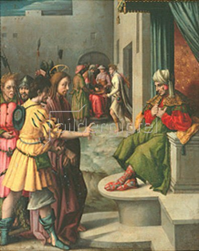 Bacchiacca (Francesco Umbertini Verdi): Christus vor Kaiphas.