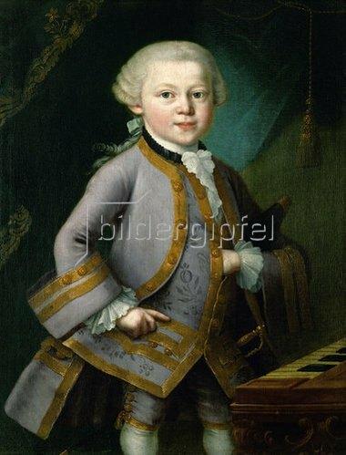 Peter Anton Lorenzoni: Der junge Wolfgang Amadeus Mozart in Hofkleidung. 1763.