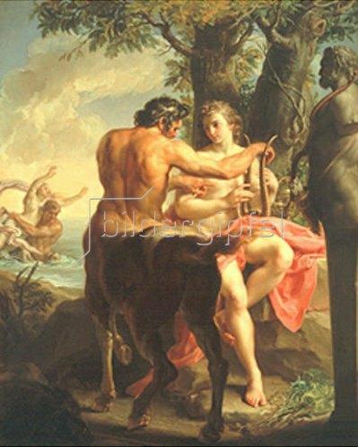Pompeo Girolamo Batoni: Achilles und der Kentaur Cheiron.