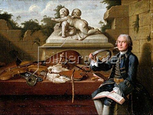 Peter Jakob Horemans: Bildnis eines Hofmusikers in Uniform. 1765