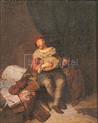 Cornelis Bega: Der Lautenspieler.