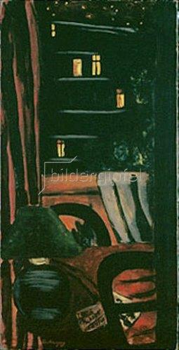 Max Beckmann: Blick bei Nacht auf die Rue des Maronniers. 1931