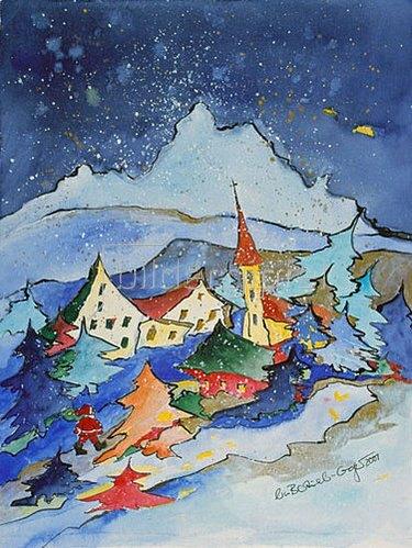 Annette Bartusch-Goger: Winter in den Bergen  2001